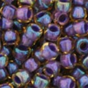 Margele Toho rotunde 8/0 - Inside-Color Lt Topaz/Opaque Purple Lined
