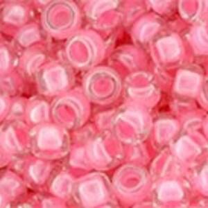 Margele Toho rotunde 8/0 - Inside-Color Crystal/Strawberry Lined
