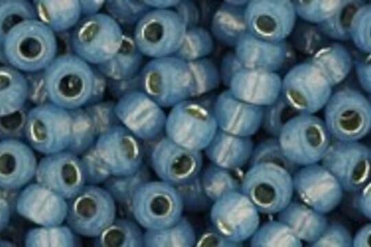 Margele Toho rotunde 8/0 - Silver-Lined Milky Montana Blue