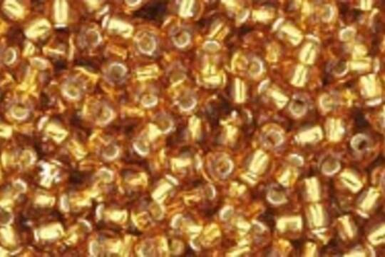 Margele Toho rotunde 11/0 - Silver-Lined Topaz