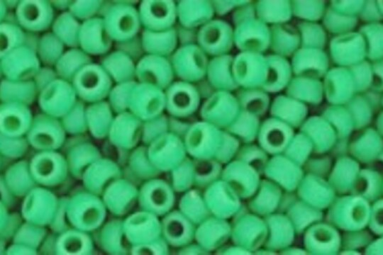 Margele Toho rotunde 11/0 - Opaque-Frosted Shamrock