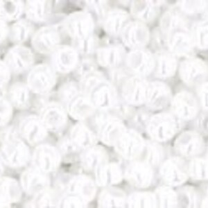 Margele Toho rotunde 11/0 - Opaque-Lustered White