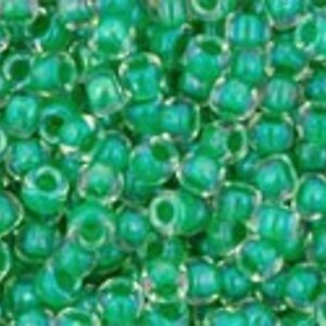 Margele Toho rotunde 11/0 - Inside-Color Crystal/Shamrock Lined