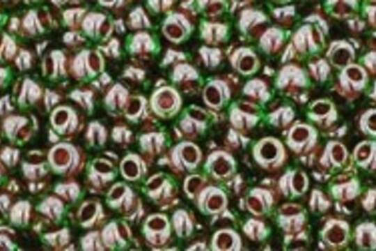Margele Toho rotunde 11/0 - Inside-Color Peridot/Fuschia Lined