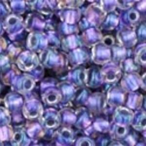 Margele Toho rotunde 11/0 - Inside-Color Rainbow Crystal/Metallic Purple Lined