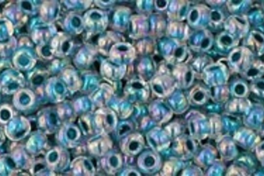 Margele Toho rotunde 11/0 - Inside-Color Rainbow Crystal/Capri Lined
