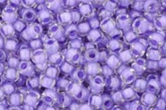 Margele Toho rotunde 11/0 - Inside-Color Crystal/Purple Lined