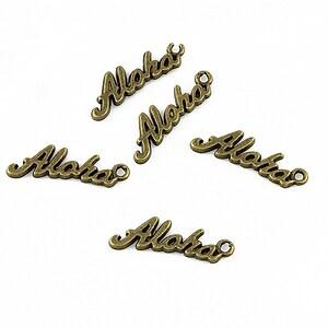 Charm bronz Aloha 17x5mm