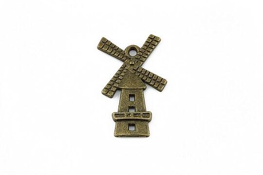 Charm bronz moara 28x17mm