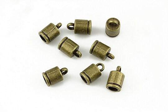 Capat de snur bronz 10x6mm (interior 4mm)