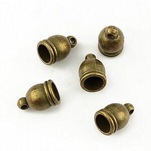 Capat de snur bronz 12x7mm (interior 6mm)