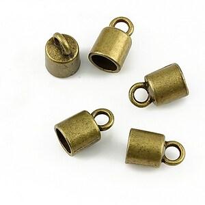 Capat de snur bronz 12x8mm (interior 6mm)