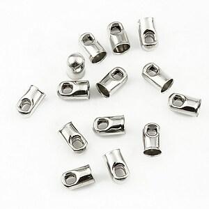Capat snur argintiu inchis, interior 3,2mm (10buc.)
