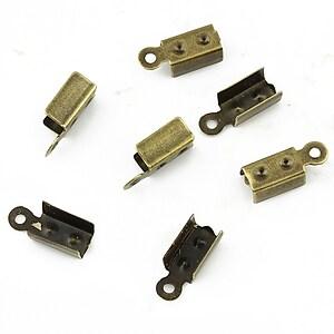 Capat snur bronz latime 4mm (4x12x5mm) (10buc.)