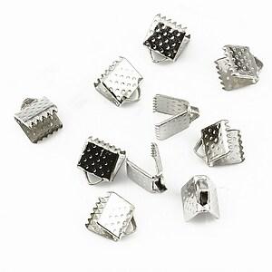 Capat snur argintiu inchis 6mm (10buc.)