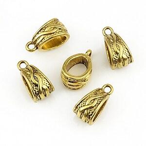 Agatatoare pandantiv auriu antichizat 7x13mm