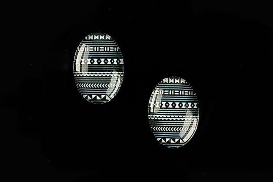 "Cabochon sticla 18x13mm ""Inspirational Motive"" cod 836"