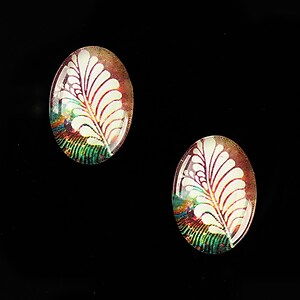 "Cabochon sticla 18x13mm ""Background"" cod 851"