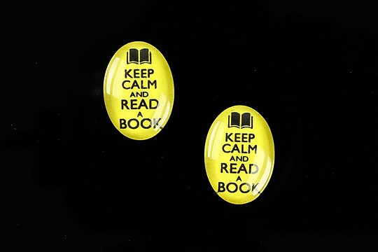 "Cabochon sticla 18x13mm ""Always Keep Calm"" cod 872"