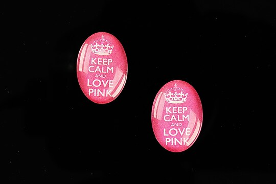 "Cabochon sticla 18x13mm ""Always Keep Calm"" cod 875"