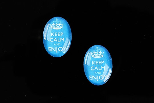 "Cabochon sticla 18x13mm ""Always Keep Calm"" cod 876"