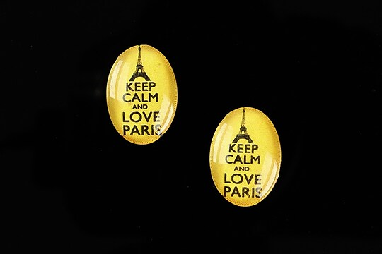 "Cabochon sticla 18x13mm ""Always Keep Calm"" cod 877"