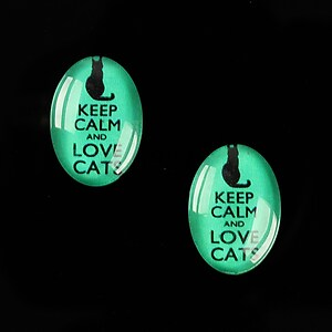 "Cabochon sticla 18x13mm ""Always Keep Calm"" cod 878"