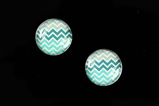 "Cabochon sticla 16mm ""Pattern"" cod 879"