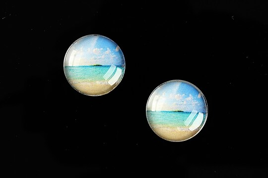 "Cabochon sticla 16mm ""Pattern"" cod 880"