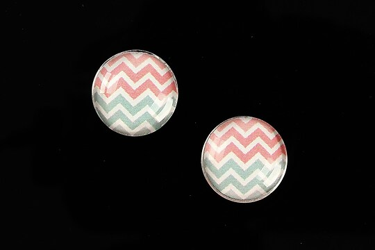 "Cabochon sticla 16mm ""Pattern"" cod 886"