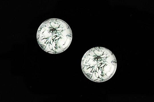 """Cabochon sticla 16mm """"Pattern"""" cod 891"""