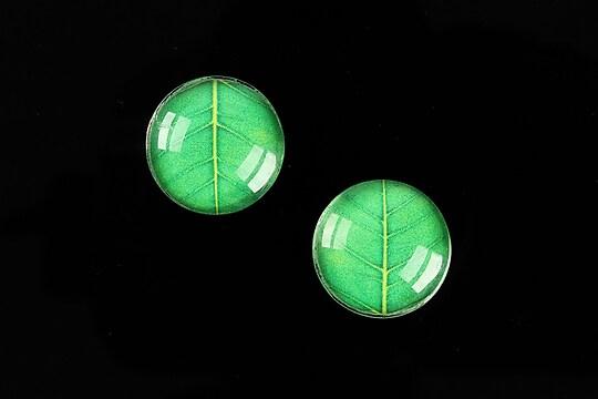 """Cabochon sticla 16mm """"Pattern"""" cod 892"""