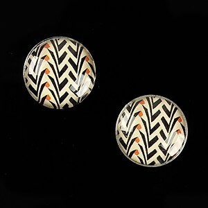 "Cabochon sticla 16mm ""Pattern"" cod 893"
