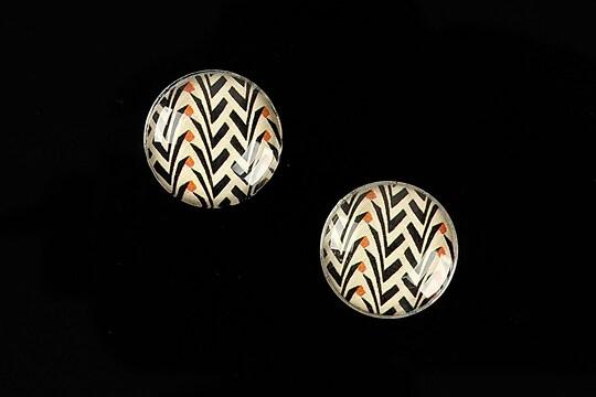 """Cabochon sticla 16mm """"Pattern"""" cod 893"""