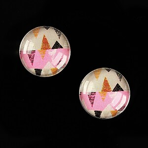"Cabochon sticla 16mm ""Pattern"" cod 894"
