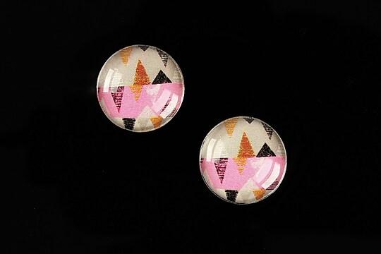 """Cabochon sticla 16mm """"Pattern"""" cod 894"""