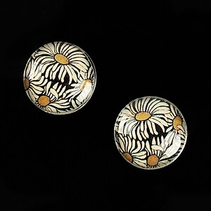 "Cabochon sticla 16mm ""Pattern"" cod 895"
