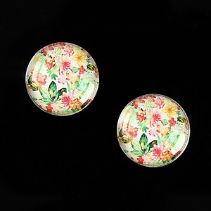 "Cabochon sticla 16mm ""Pattern"" cod 896"