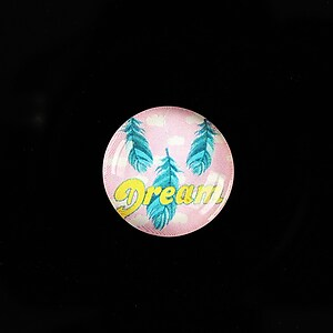 "Cabochon sticla 18mm ""Good things"" cod 903"