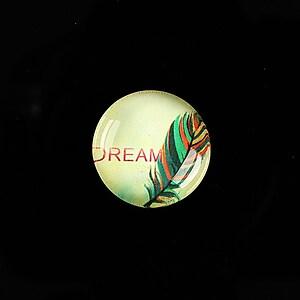 "Cabochon sticla 18mm ""Good things"" cod 906"