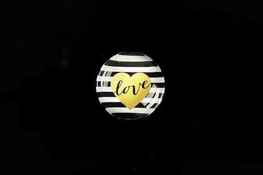 "Cabochon sticla 18mm ""Pattern"" cod 909"