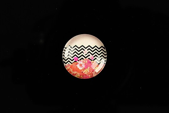 "Cabochon sticla 18mm ""Pattern"" cod 919"