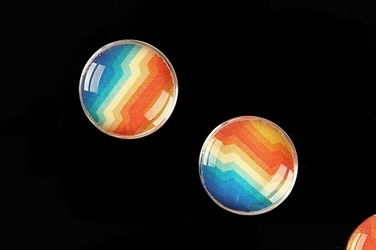 "Cabochon sticla 18mm ""Pattern"" cod 921"