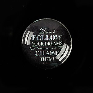 "Cabochon sticla 25mm ""You can choose"" cod 931"