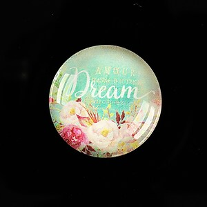 "Cabochon sticla 25mm ""Dream"" cod 934"