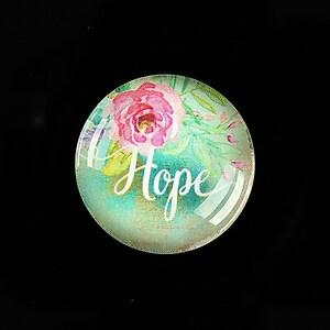"Cabochon sticla 25mm ""Hope"" cod 937"