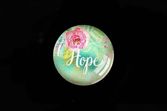"""Cabochon sticla 25mm """"Hope"""" cod 937"""