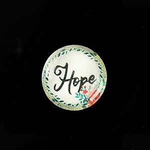 "Cabochon sticla 20mm ""Hope"" cod 940"