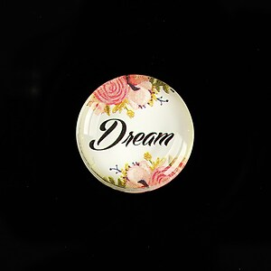 "Cabochon sticla 20mm ""Dream"" cod 942"