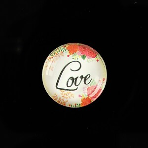 "Cabochon sticla 20mm ""Love"" cod 944"